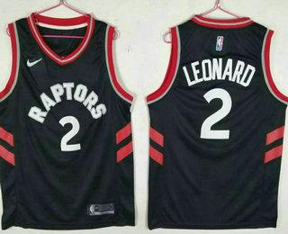 Men s Toronto Raptors  2 Kawhi Leonard Black 2018 Nike Swingman Stitched NBA  Jersey a6a11de78
