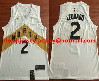 Men s Toronto Raptors  2 Kawhi Leonard New White 2019 City Edition NBA  Swingman Jersey e3c6ad534
