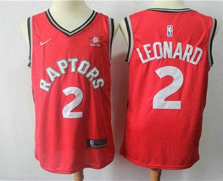 Men s Toronto Raptors  2 Kawhi Leonard Red 2018 Nike Swingman Sun Life  Stitched NBA Jersey 8102378d7