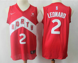 e0df82b164b Men s Toronto Raptors  2 Kawhi Leonard Red Nike Swingman 2018 playoffs  Earned Edition Stitched Jersey