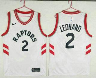 Men s Toronto Raptors  2 Kawhi Leonard White 2018 Nike Swingman Stitched NBA  Jersey 27af47f60