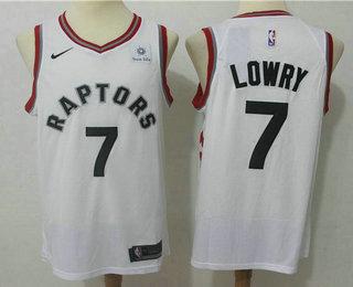a4d49001801 Men s Toronto Raptors  7 Kyle Lowry White 2017-2018 Nike Swingman Sun Life  Stitched NBA Jersey