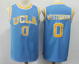 f9a8ca5266ec Men s UCLA Bruins  0 Russell Westbrook Light Blue College Basketball  Swingman Stitched NCAA Jersey