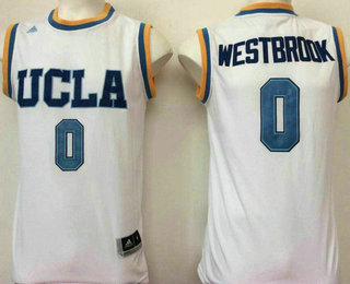 270179921d81 Men s UCLA Bruins  0 Russell Westbrook White College Basketball Swingman  Stitched NCAA Jersey