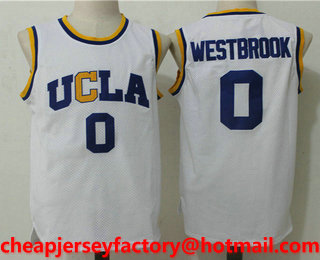 756a16a72 ... Mens UCLA Bruins 0 Russell Westbrook White College Basketball Swingman  Stitched NCAA Jersey ...