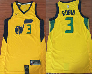 check out 48f64 16e8a Men's Utah Jazz #3 Ricky Rubio 2017-2018 City Edition 5 For ...