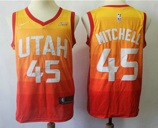 d40b086bc656 Men s Utah Jazz  45 Donovan Mitchell 2017-2018 City Edition 5 For The Fight