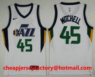 best service 66e03 ac8da Men's Utah Jazz #45 Donovan Mitchell Navy Blue 2017-2018 ...