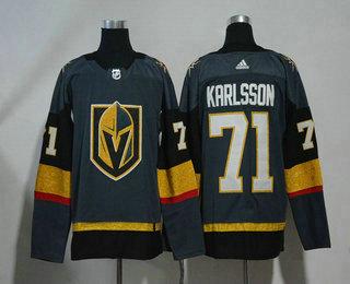 a889ff60871 Men s Vegas Golden Knights  71 William Karlsson Gray 2017-2018 Hockey  Stitched NHL Jersey