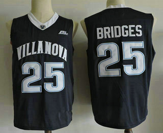bf1133ed596d Men s Villanova Wildcats  25 Mikal Bridges Navy Blue College Basketball  Nike Swingman Stitched NCAA Jersey