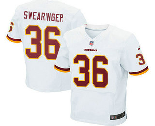 1bd554c27 ... Mens Washington Redskins 36 D.J. Swearinger White Road Stitched NFL Nike  Elite Jersey ...
