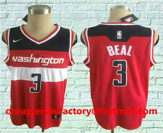 21d3c41a1 Men s Washington Wizards  3 Bradley Beal Red 2017-2018 Nike Swingman  Stitched NBA Jersey