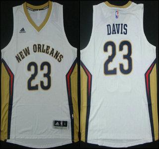 ... New Orleans Pelicans 23 Anthony Davis Revolution 30 Swingman 2014 New  White Jersey ... 725ad5eca