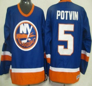 outlet store 4aa90 223d3 New York Islanders #5 Denis Potvin Light Blue Throwback CCM ...