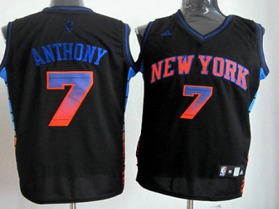 b09f028c6bb ... New York Knicks 7 Carmelo Anthony 2012 Vibe Black Fashion Jersey ...