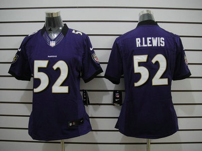 ff3ade10c Nike Baltimore Ravens 52 Ray Lewis Purple Limited Womens Jersey