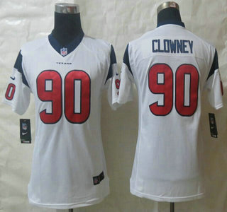 Hot Nike Houston Texans #90 Jadeveon Clowney Red Limited Kids Jersey  for cheap