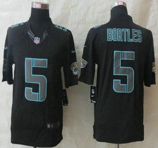 Nike Jacksonville Jaguars  5 Blake Bortles Impact Limited Black Jersey 23022083c