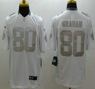 be4ae757a7e Nike New Orleans Saints 80 Jimmy Graham White Platinum Limited Jersey ...