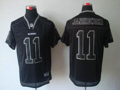 Nike Oakland Raiders 11 Sebastian Janikowski Lights Out Black Elite Jerseys 96408fa8f