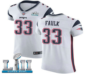 2b88178fe44 Nike Patriots  33 Kevin Faulk White Super Bowl LII Men s Stitched NFL Vapor  Untouchable Elite