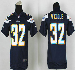 nike san diego chargers 32 eric weddle 2013 navy blue game kids jersey