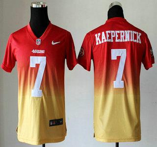 59c1cf68b Nike San Francisco 49ers #7 Colin Kaepernick Drift Fashion II Red With  Yellow Elite Kids