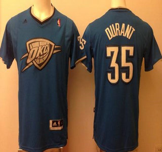 Oklahoma City Thunder  35 Kevin Durant Blue Revolution 30 Swingman NBA  Jersey 2014 Christmas Style 597566956