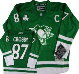 promo code 32507 405e1 Pittsburgh Penguins #87 Sidney Crosby St. Patrick's Day ...
