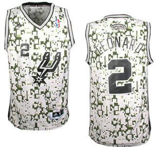 San Antonio Spurs  2 Kawhi Leonard Revolution 30 Swingman Grey Camo Jersey 17626920c
