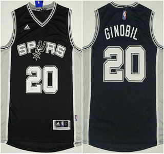 7538a0ec78a ... reduced san antonio spurs 20 manu ginobili revolution 30 swingman 2014  new black jersey 1412b ad0ab