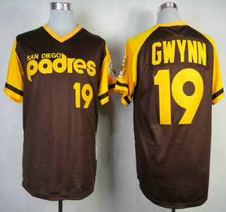 new concept 8f764 e5a72 San Diego Padres #19 Tony Gwynn Brown Throwback Jersey