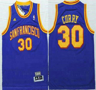 15d85678c2b ... Throwback Jersey San Francisco Warriors 30 Stephen Curry ABA Hardwood  Classic Swingman Blue Jersey ...
