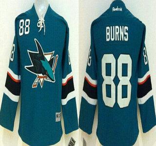 separation shoes 5a67f e52b7 San Jose Sharks #88 Brent Burns 2014 Blue Kids Jersey