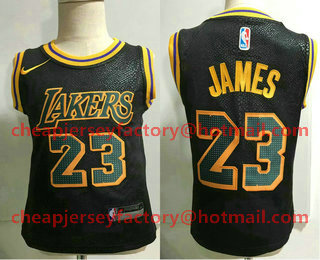 best service ad19b c82e9 Toddler Los Angeles Lakers #24 Kobe Bryant Black Nike ...