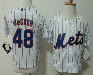 7ac68c5c ... Cool Base Jersey stitched Preschool Blue Toddler New York Mets 48 Jacob  deGrom White Home MLB Majestic Baseball Jersey ...