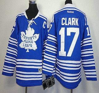 toronto maple leafs 17 wendel clark 2014 winter classic blue kids jersey
