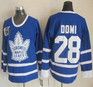 deeecee75 Toronto Maple Leafs 28 Tie Domi Blue 75TH Throwback CCM Jersey ...