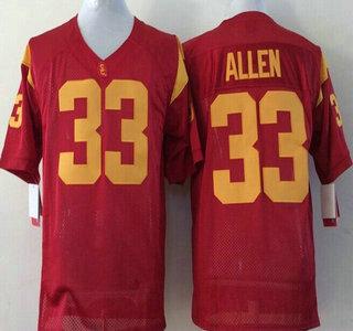 pretty nice 983c7 88975 USC Trojans #33 Marcus Allen 2015 Red Jersey