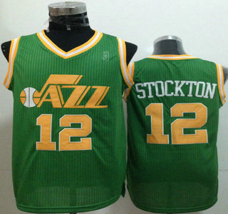hot sale online 05f6b feb59 Utah Jazz #12 John Stockton Green Revolution 30 Authentic Jersey