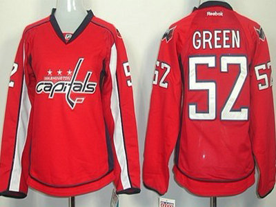 a3147d021 washington capitals 52 mike green red womens jersey