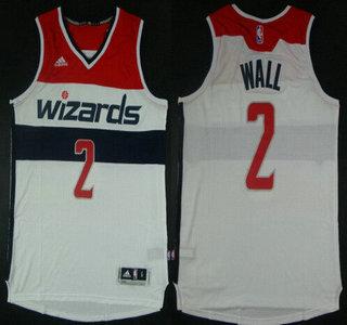 d6b155420949 Washington Wizards  2 John Wall Revolution 30 Swingman 2014 New White Jersey