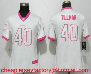 20177f20e Women s Arizona Cardinals  40 Pat Tillman White Pink 2016 Color Rush Fashion  NFL Nike Limited