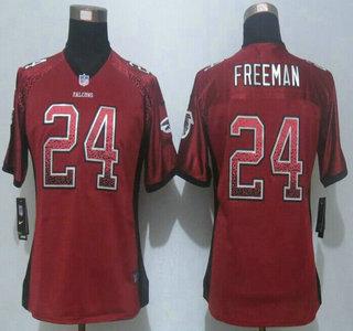 womens atlanta falcons 24 devonta freeman nike drift fashion red elite jersey