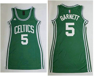 0196c2ecc77 ... Womens Boston Celtics 5 Kevin Garnett Green Dress Jersey Adidas NBA  Boston Celtics 5 Kevin Garnett Electricity Fashion Swingman ...