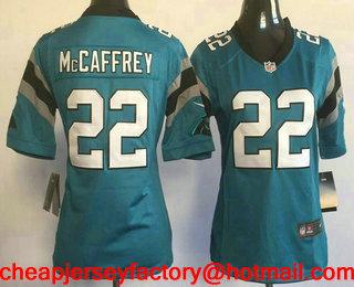 6444da449 ... Womens Carolina Panthers 22 Christian McCaffrey Light Blue Alternate  Stitched NFL Nike Game Jersey ...