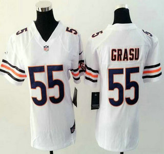 big sale ce6e3 9c6e9 Women's Chicago Bears #55 Hroniss Grasu Nike White Game Jersey