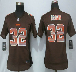 fe8d64eed16 Women s Cleveland Browns  32 Jim Brown Brown Strobe 2015 NFL Nike Fashion  Jersey
