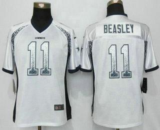 official photos cfbd1 63c0b Women's Dallas Cowboys #11 Cole Beasley White Drift Fashion ...