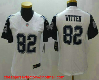 254a85959 Women s Dallas Cowboys  82 Jason Witten White 2016 Color Rush Stitched NFL  Nike Limited Jersey